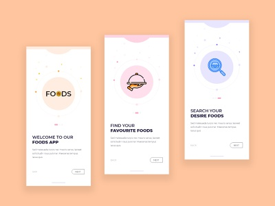 Food App On-boarding Screen restaurant restaurant app services icon design icons ux ui mobile app food illustration food and drink food app food onboarding screen