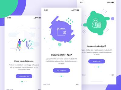 Wallet IOS App Onboarding Screen (WIP) card bank app bank wallet finance ui app onboarding onboarding screen wallet app crypto wallet