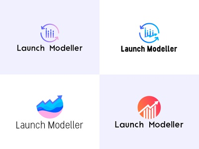 Logo Exploration modelling financial data chart graph launch logo brand