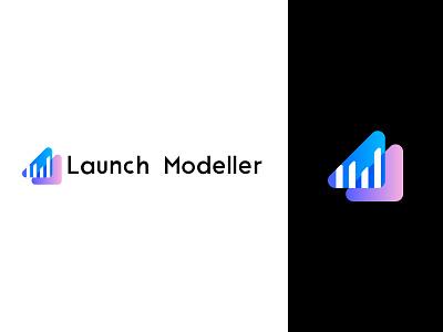 Logo Explorations prediction result model financial chart graph brandig app
