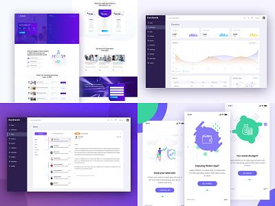2018 Top Shot ui design wallet portfolio landing business app