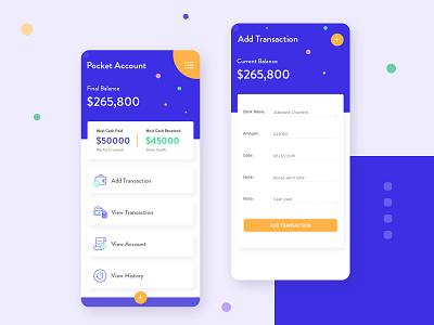 Pocket/Wallet Account App money money transfer finance wallet wallet app pocket app