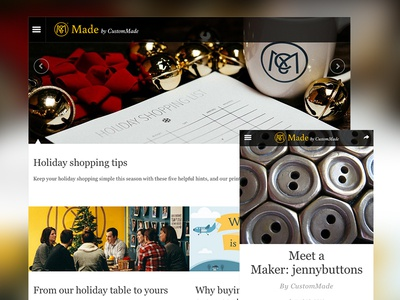 CustomMade blog blog publish maker diy responsive story marquee longform typography retina
