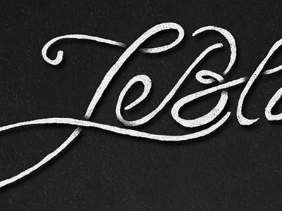 Leblanc Bitters hand lettering branding bitters script type free hand