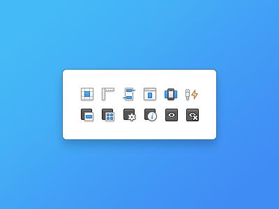 18x18 pixel Icons icons pixel application blue iphone app mac os x