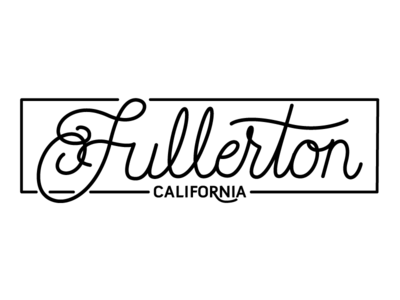 Love where you live handwriting lines fullerton lettering california live