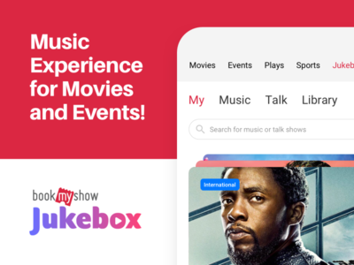 BookMyShow - JukeBox Music App case study casestudy download android ios red sketch ux player branding music design app ui