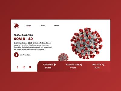 Covid 19 Webdesign concept