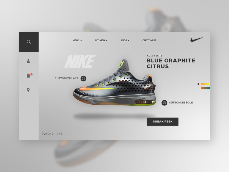 Nike Graphite Citrus concept. webdesigner nike shoes website webdesign icon ui uiux graphic  design creative typography vector design flatdesign illustrator cc
