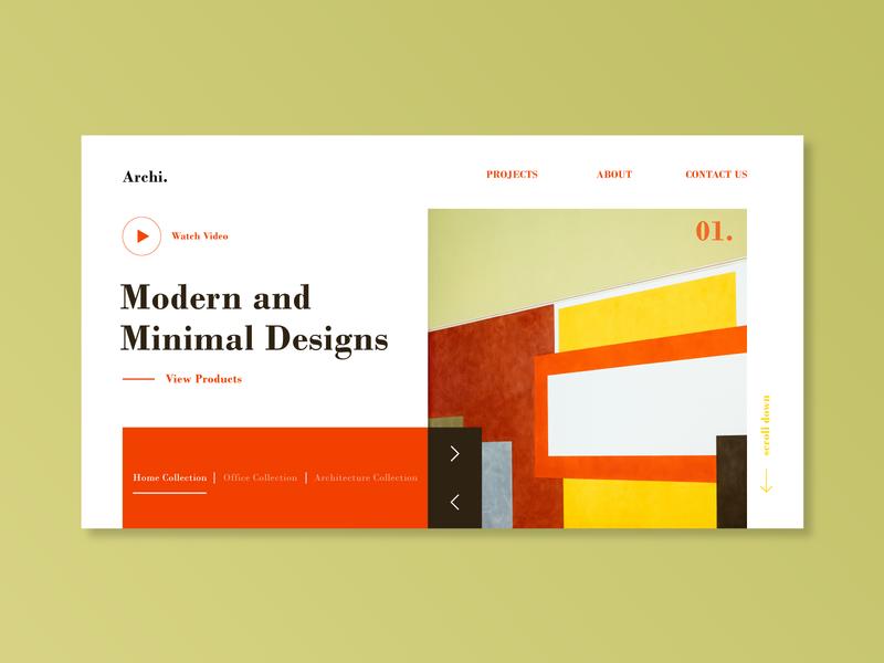 Architectural Landing Page Concept webdesigner webdesign web uiux graphic  design creative typography vector design flatdesign illustrator cc