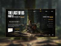 The last of us 2 Landing Page ui design ux ui uiux landing page website web design landing page design creative graphic  design illustrator cc