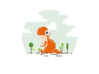 Dinosaur graphic illustration