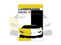 Lamborghini Huracan Poster Design