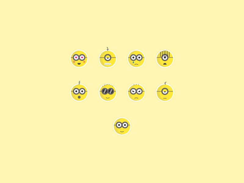 Minions emoji emojis simple design graphic  design creative illustration design illustrator cc vector flatdesign