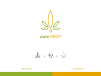 cannabis concentrated logo design