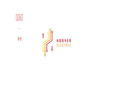 Hoover electric Logo Design creative illustrator cc vector flatdesign illustration simple design logo graphic  design typography visual identity logodesign branding