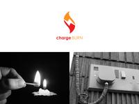 Charge burn logo design concept