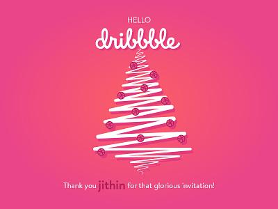 Thank you jithin! jithin tree christmas thank you thankyou invite