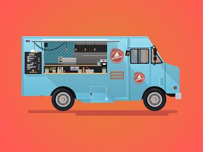 Gogrilla Food truck illustrator vectorgraphics vector van service car food truck food truck foodtruck gogrilla