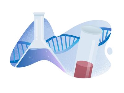 Bio Illustration 1 test tube dna artwork illustration illustrator vector