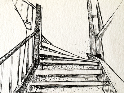 Stairs sketch illustration