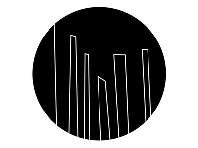 Downtown industrial design line art illustration