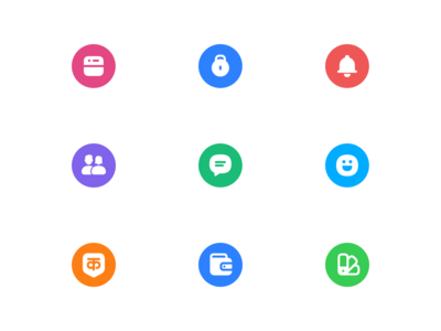 Hike – Iconography (solid colorful)