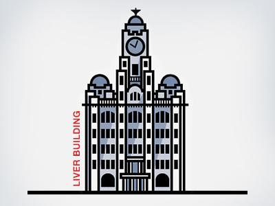 Liver Building — Liverpool liver building liverpool illustration vector bird shadow
