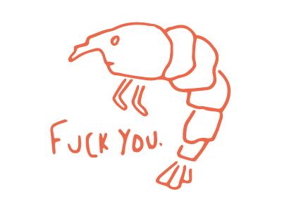 Prawn prawn shellfish illustration line drawing fish seafood