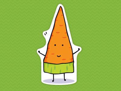Carrot Magnet happy vector food illustration vegetable magnet carrot