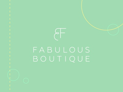 FB Identity identity branding line thin pattern typography teal boutique logo