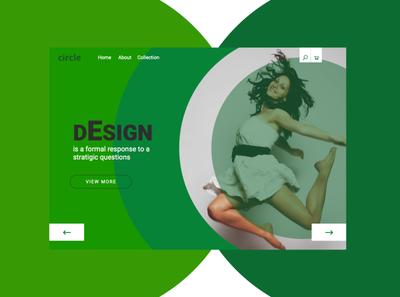 circular concept fashion landing page