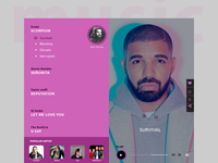 music player landing page concept