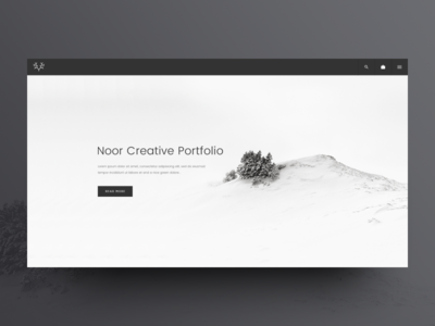 NOOR WordPress Theme: Portfolio Template