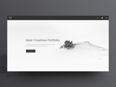 NOOR WordPress Theme: Portfolio Template wp theme wp wordpress web design ux ui theme minimal creative clean