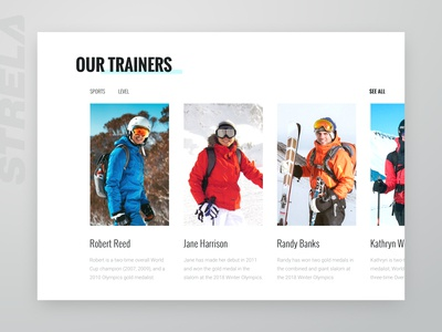 Website UI for Ski Training Center (part 2)