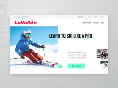 Website UI for Ski Training Center (part 1)