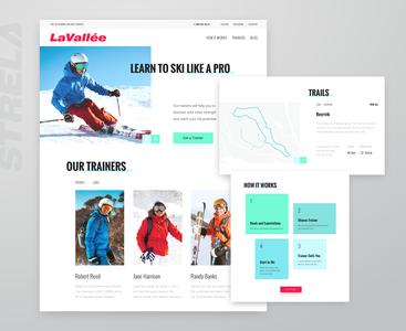 Website UI for Ski Training Center