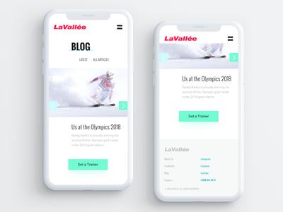Mobile Website UI for Ski Training Center (part 3)