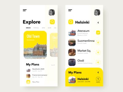 Mobile App UIUX (Travel Planner)