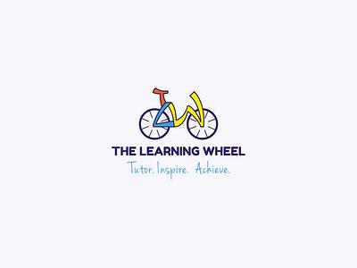 Logo design for The Learning Wheel orange children fun blue yellow icon illustration typography education logo education learning wheel bicycle logo design branding vector