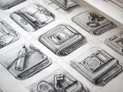 Diary iOS Icon Sketches