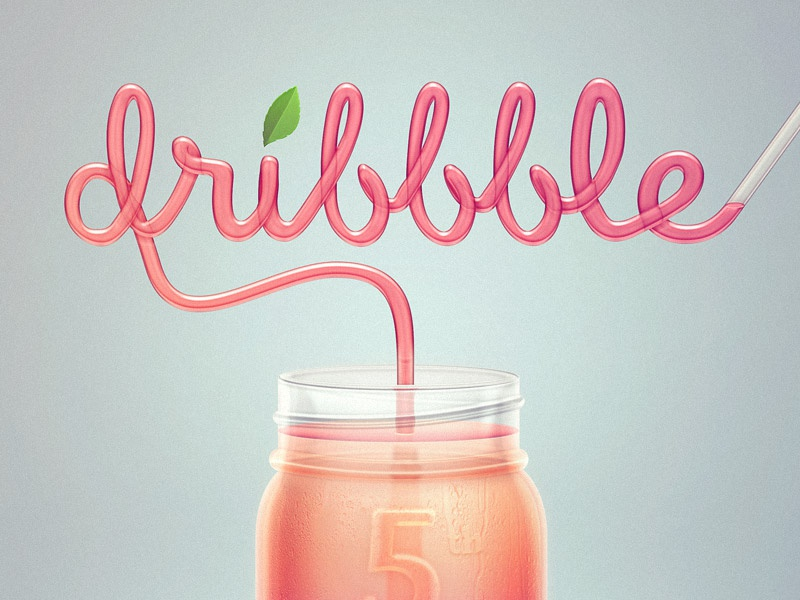 Dribbble straw
