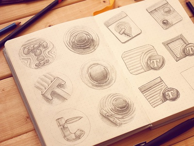 Typed App Concepts Icon mac os sketches pencil paper
