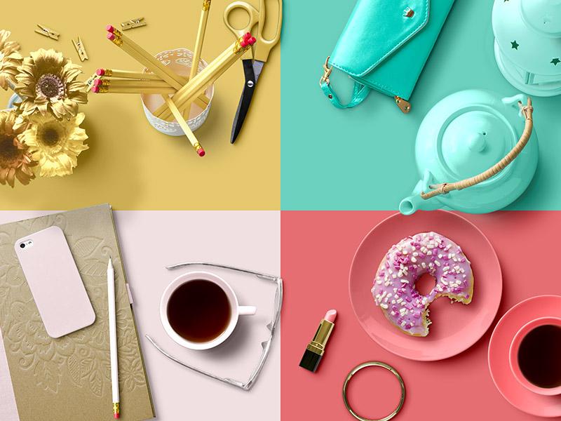 Custom Scene - Feminine Edition mockup fashion girl isolated objects builder desk generator scene photoshop psd feminine