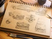Chevy Bel Air Sketch Study