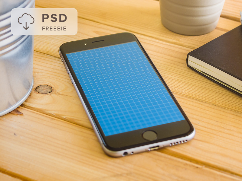 Freebie iPhone 6 PSD Mockup photograph photo responsive website app iphone photoshop free psd mockup freebie