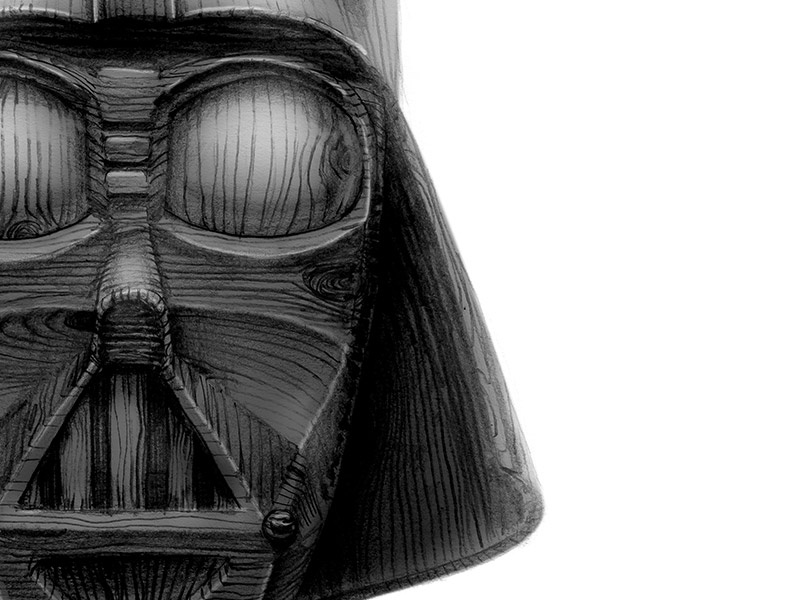 Darth Wood Vader xprocrastinationcontest dark side galaxy star wars darth vader