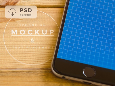 Freebie iPhone 6s Mockup & Text Placement