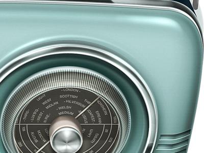 Radio Icon WIP radio retro chrome metal wip work in progress